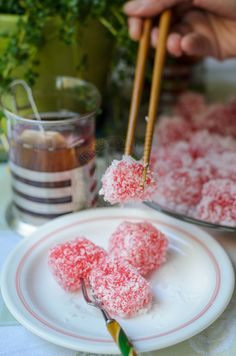 """Steamed Tapioca Pearls with rosewater / Kuih Sago air mawar : delightful to have as an afternoon tea.        """"I am coming home...   I am co..."""