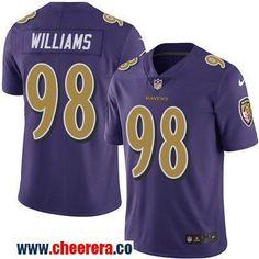 Men's Baltimore Ravens #98 Brandon Williams Purple 2016 Color Rush Stitched NFL Nike Limited Jersey