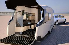 Caraviso caravan - Your old trailer is going to look pretty bad when compared to the shiny and new Caraviso caravan concept. Designed by German firm Knaus Tabbert, th...