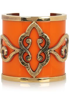 gold plated plexiglass cuff  by Emilio Pucci