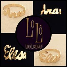 Anéis personalizados. #lologiorge #jóia #moda #euquefiz #encomenda #mulher