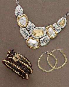 Fun jewelry, quality between fine and costume jewelry, and a good choice for travel.  If lost, easily replaced.