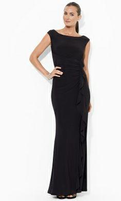 Ruffled Jersey Gown - Lauren Sale - RalphLauren.com