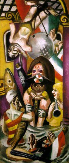 """Galleria Umberto"" (1925), by Max Beckmann. (location: Collection R.N. Ketterer, Campione, Switzerland)"