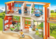 Buy Playmobil City Life 6657 Furnished Children's Hospital from our Construction Toys range at John Lewis & Partners. Collection Playmobil, Playmobil City, Walmart Online, Childrens Hospital, Baby Birthday, Birthday Gifts, City Life, Front Desk, Kids And Parenting