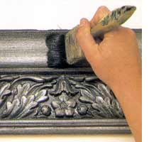 How to apply a faux pewter finish