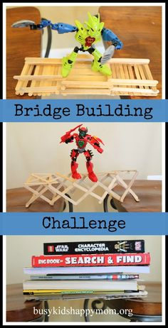 Build-a-Bridge Challenge  Busy Kids = Happy Mom: Unplugged Play.  Perfect for going with 3 Little Pigs and 3 Billy Goats Gruff unit