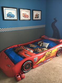 Disney  Cars  Themed Dresser  customized here at the shop     Disney Cars Bedroom