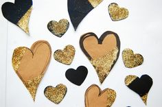 heArt Makes: Glittered Hearts