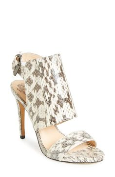 Vince Camuto 'Fandy' Snake Embossed Leather Sandal (Women) available at #Nordstrom