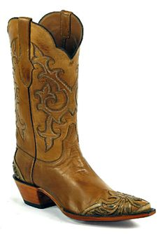 Hand-Tooled Leather Boots Style HTP-221 Custom-Made by Black Jack Boots
