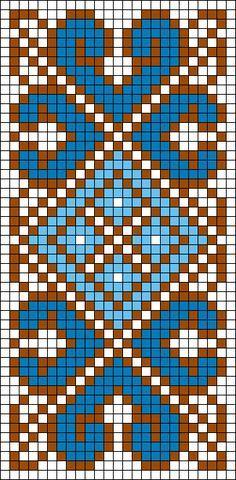 Free bead loom or square stitch pattern Tapestry Crochet Patterns, Bead Loom Patterns, Weaving Patterns, Jewelry Patterns, Knitting Charts, Knitting Patterns, Cross Stitch Designs, Cross Stitch Patterns, Mochila Crochet