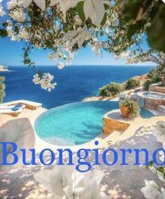 Good Day, Good Morning, Italy, Outdoor Decor, Gifs, Pandora, Good Morning Wishes, Bonjour, Italian Greetings