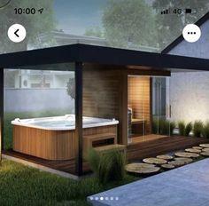 Basement Sauna, Modern Saunas, Contemporary Garden Rooms, Sauna House, Outdoor Sauna, Sauna Design, Finnish Sauna, Backyard Patio, Gazebo