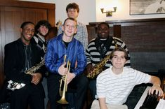 Robert Larry (far left) has grown from the days of annoying his brothers with his homemade drum set, comprised of empty paint cans, pots and pans, plastic bins and a pair of steel spatulas. The Rufus King High School student has become a leader in King's band, jazz band and drum line, thanks in part to the extra learning opportunities provided by the Wisconsin Conservatory of Music.