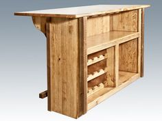 loon peak abella deluxe bar with foot rail color stained and lacquered, simple wood painting pallet art