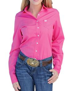 Cinch women's shirts are designed to provide classic and timeless fashion for women in and out of the arena. Country Wear, Country Outfits, Western Tops, Western Shirts, Barrel Racing Shirts, Rodeo Outfits, Timeless Fashion, Shirt Blouses, Button Downs