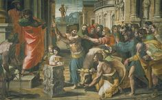 The Sacrifice at Lystra by Raphael, 1515.