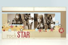An easy way to make stars for your scrapbook layouts!