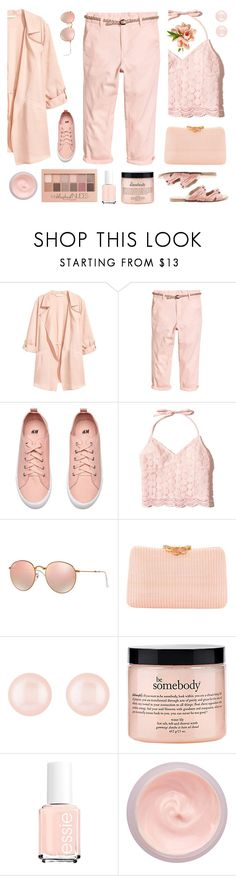 """""""Untitled #2198"""" by tinkertot ❤ liked on Polyvore featuring Hollister Co., Ray-Ban, Serpui, Henri Bendel, philosophy, By Terry, Maybelline and Raye"""