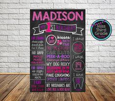 First Birthday Digital Poster // Girly Birthday by MsThirdGrade