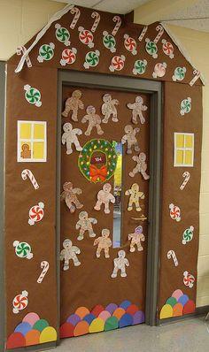 Gingerbread house door design