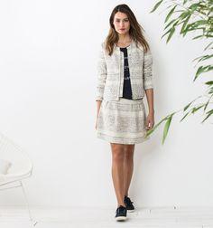Total look veste et robe fantaisie #ModeFemme