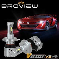 Broview V8 Led Headlight Bulbs Arc Beam Kit 72w 12 000lm