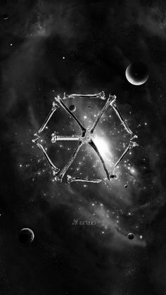 #EXO #MONSTER #GALAXY #GREY #WALLPAPER #PHONE #KPOP