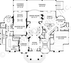 Ashburton | Luxury Home Blueprints | Mansion Floor Plans