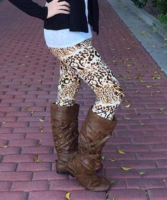 This White & Black Leopard Leggings is perfect! #zulilyfinds #justcouture www.justcouturestore.com