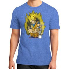 super cague ha District T-Shirt (on man)