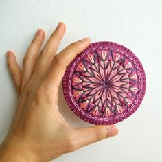 I could DIY this. Hand Embroidered Wool Felt Coaster or Home Docor by LoftFullOfGoodies, $8.00