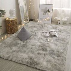Grey Carpet Tie Dyeing Plush Soft Carpets For Living Room Bedroom Anti slip Floor Mats Bedroom Water Absorption Carpet Rugs-in Carpet from Home & Garden on AliExpress Room Ideas Bedroom, Living Room Bedroom, Rug For Bedroom, Dorm Room Rugs, Fluffy Rugs Bedroom, Bedroom Ideas For Small Rooms Cozy, Small Room Design Bedroom, Bedroom Inspo, Cute Rooms For Girls