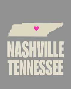 Nashville Tennessee Heart 8 x 10 Typography Print - Gray and Pink Check out the website for Nashville Tennessee, Nashville Trip, Visit Nashville, Down South, Typography Prints, Where The Heart Is, My Guy, Oh The Places You'll Go, Vacation Spots