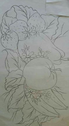 Ideas Painting Fabric Art For 2019 Fruit Painting, Tole Painting, Fabric Painting, Fabric Art, Colouring Pages, Coloring Books, Faux Stained Glass, Motif Floral, Hand Embroidery Patterns
