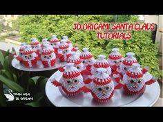 HOW TO MAKE 3D ORIGAMI SANTA CLAUS | DIY SANTA CLAUS CHRISTMAS DECORATION TUTORIALS - YouTube