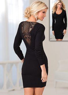 Crochet back sweater dress in the VENUS Line of Dresses for Women