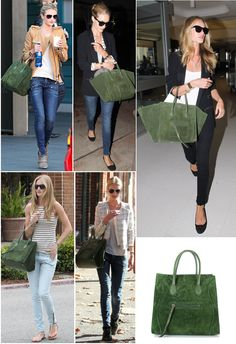 Celine Khaki Suede Small Phantom Luggage Tote Bag | Celine, Khakis ...
