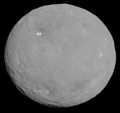 Ceres, the largest asteroid and the first to be discovered (952 km, main belt asteroid). This image was taken by the Dawn spacecraft on 6 May 2015 at a distance of 13,600 km (8,500 mi).