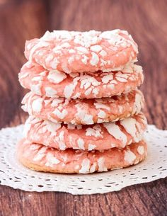 There's something ridiculously delicious about strawberry cookies, and this Strawberry Cake Mix Cookie Recipe tops the charts! Just 4 ingredients!!