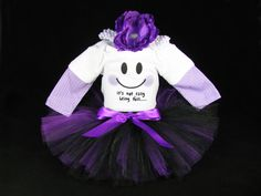 """Babys Halloween Outfit  """" Its Not Easy.."""" Ghost - Girls Tutu Bodysuit and Headband Set - Size 18 Months on Etsy, $38.00"""