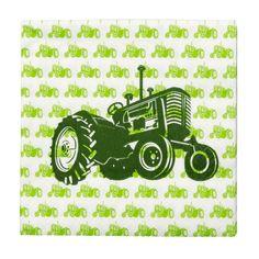 Servietter traktor, grønn