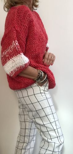 Suéter a dos agujas sin sisa