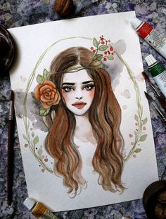 Hey, I found this really awesome Etsy listing at https://www.etsy.com/ru/listing/517279913/girl-painting-original-watercolor-art-by