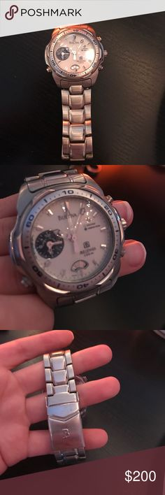 Silver Men's Watch In perfect condition and no longer used anymore! Accessories Watches