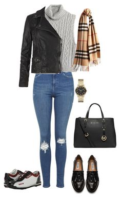 """""""Bowling Date"""" by ninahardy30 ❤ liked on Polyvore featuring Topshop, Madewell, Steve Madden, AllSaints, Burberry, Dexter Bowling, Marc by Marc Jacobs and MICHAEL Michael Kors"""