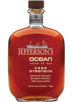 Jefferson's Ocean Aged at Sea Cask Strength Bourbon Whiskey Good Whiskey, Cigars And Whiskey, Scotch Whiskey, Bourbon Whiskey, Whisky, Whiskey Girl, Vodka, The Distillers, Liqueurs