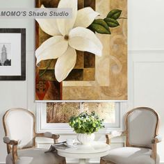 MOMO Thermal Insulated Blackout Fabric Custom Painting Window Curtains Roller Shades Blinds,PRB set473-477