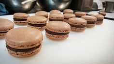 """Quote circa 2015; @ryanjh1: """"Pastry chefs so easy just post a picture of macarons & all the girls will 'like' it""""  Chocalate macarons. by alastiar_tan"""